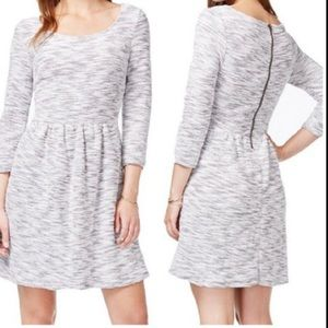 Macy's Maison Jules fit flare sweater dress